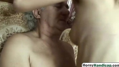 Blonde toddler riding crippled man blowjobfilth-hi-1