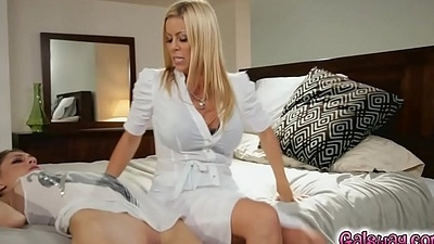 Control together with discipline makes the lesbian Milf Alexis horny
