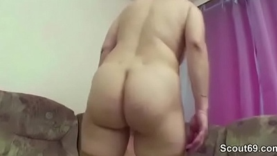 Step-Mom Sweet-talk Young Boy to Fuck her When Home Alone