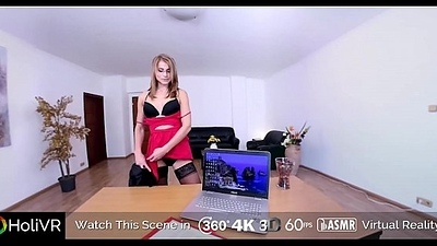 HoliVR   Gorgeous Mummy Agony aunt fuck her boss less the office