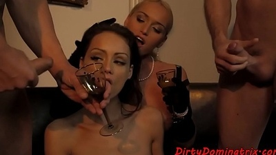 Glam eurobabe doublepenetrated and driven
