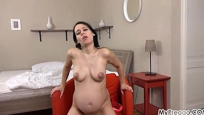 Pregnant Kristyna Squeezes out Some Milk!