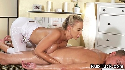 Dude getting massage with huge Bristols then fuck