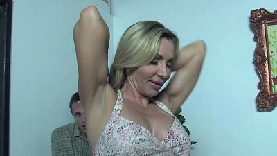 Son witness how his mom Lisa Demarco receives fucked by a BBC
