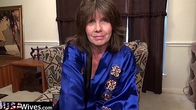 USAWiveS Mature Jade Anal Bagatelle Masturbation