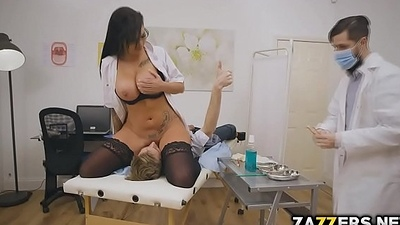 Big tittied doctor Candy  got her pussy disregarded by her patient