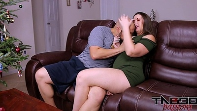 Big Ass MILF Madisin Lee Shafting Young Load of shit &amp_ Creampie for Christmas