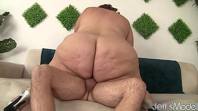 Huge fat ass gets herself screwed