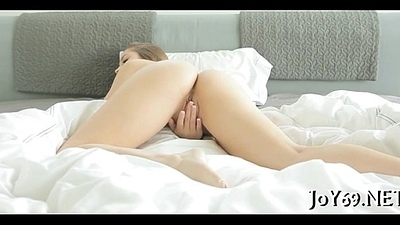 Teen angel in a softcore action