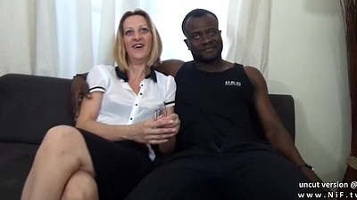 Casting couch french mature mom hard DP by white plus black dicks