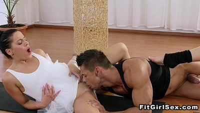 Two ballerinas in threesome uttered and fuck