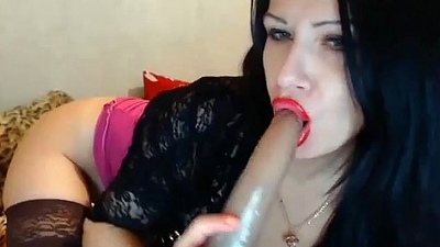 Milf with red lipstick gets dirty exposed to cam see more at cum2her.com