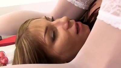 Burnett Talia Gets Her Stockings Wet