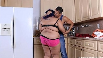 Angry BBW Babe is Calmed with the addition of Screwed by Hubby'_s Friend