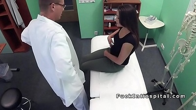 Dilute in uniform bangs cute patient